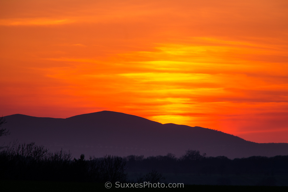 malvern hills sunset